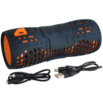 Sportsman Water Resistant Wireless Speaker Color: Black / Orange