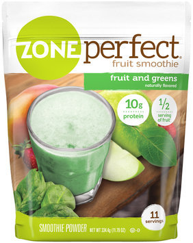 zoneperfect® fruit and greens smoothie powder