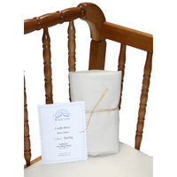 Wendy Anne Cradle Sheet Color: Ivory, Size: 33