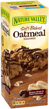 Nature Valley™ Banana Bread & Dark Chocolate Soft-Baked Oatmeal Squares 34 ct Box