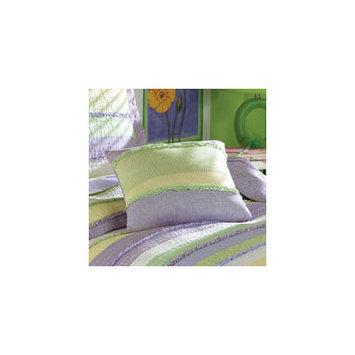 My World Annas Ruffle Pillow in Purple
