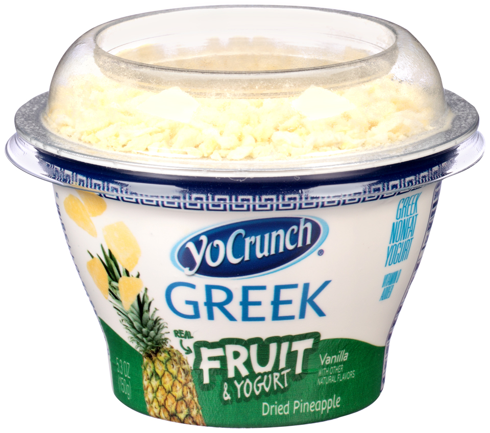 YoCrunch® Dried Pineapple Fruit & Greek Nonfat Yogurt 5.3 oz. Cup