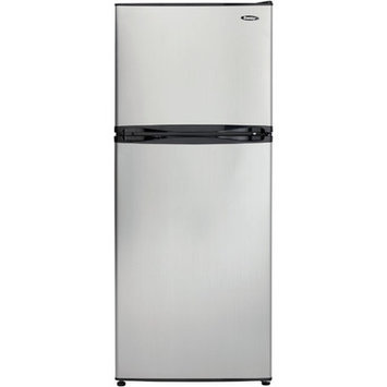 Danby DFF100C1BSLDB 10.0 cu. ft. Top Freezer Refrigerator with 3 Adjustable Glass Shelves, Full-Width Vegetable Crisper, 1 Adjustable Wire Freezer Shelf and Automatic Defrost: Stainless Look