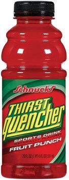 Schnucks Thirst Quencher Fruit Punch Sports Drink 20 Oz Plastic Bottle