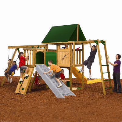 PlayStar Legend Gold Ready to Assemble Swing Set Kit