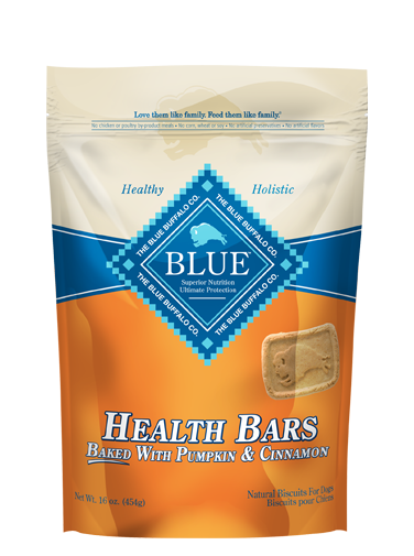 THE BLUE BUFFALO CO. BLUE™ Health Bars Baked with Pumpkin and Cinnamon Natural Biscuits for Dogs