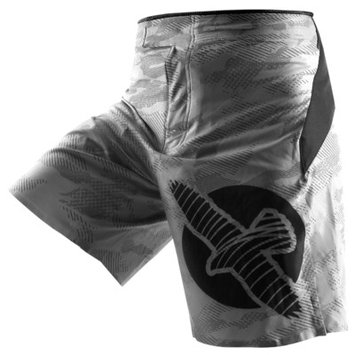 Hayabusa Weld3 Fight Shorts Color: Grey, Size: 38