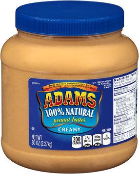 Adams® 100% Natural Creamy Peanut Butter 80 oz. Jar