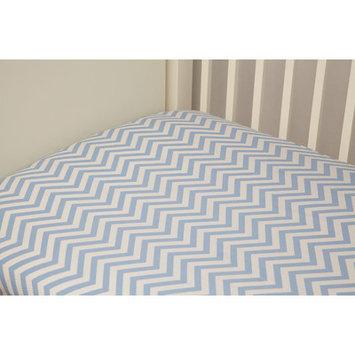 Riegel Cotton Chevron Crib Sheet Color: Blue