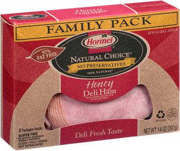 Hormel® Natural Choice® Honey Sliced Deli Ham