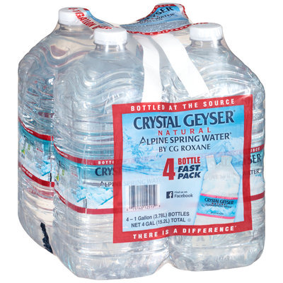 Crystal Geyser® Natural Alpine Spring Water® 4-1 gal Bottles
