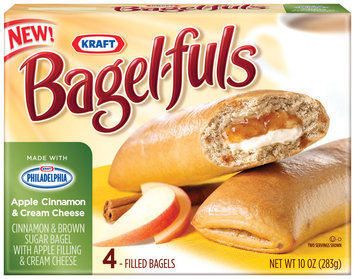 Bagel-Fuls Apple Cinnamon & Cream Cheese 4 Ct Bagels 10 Oz Box