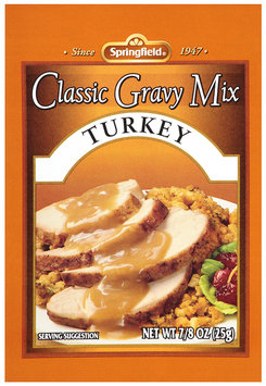Springfield® Classic Gravy Mix Turkey 0.875 oz. Packet