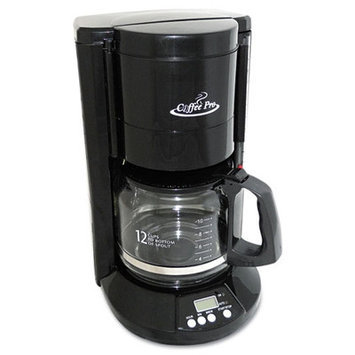 Originalgourmetfoodco Coffee Pro Home/Office 12-Cup Coffee Maker - Color: Black