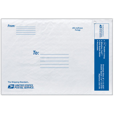 Lepage's Inc White 8 USPS Poly Bubble Mailers