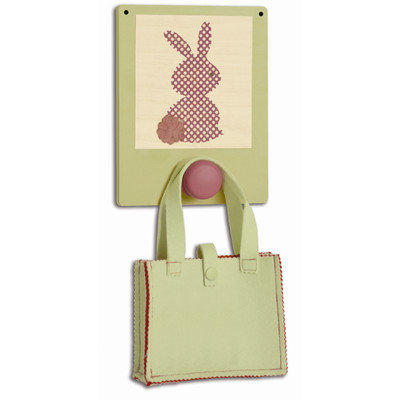 Tree by Kerri Lee Wuzzy Wall Hook Bunny, Green/Purple