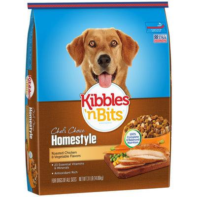 Kibbles 'n Bits Brand Dog Food Grilled Steak & Vegetable Flavor Dry Dog Food, 35-Pound