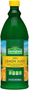 Springfield 100% Juice from Concentrate Lemon Juice 32 fl. oz. Plastic Bottle
