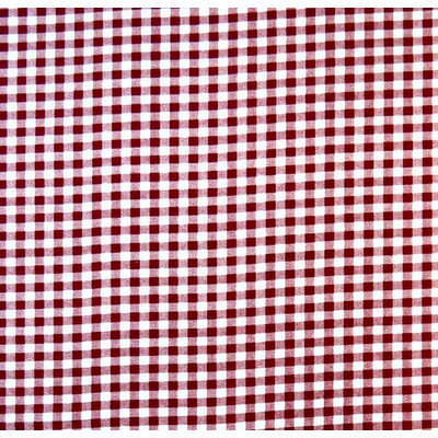 Stwd Gingham Check Playard Fitted Sheet Color: Burgundy