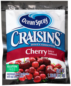 Ocean Spray® Craisins® Cherry Juice Infused Dried Cranberries 1.16 oz. Pouch