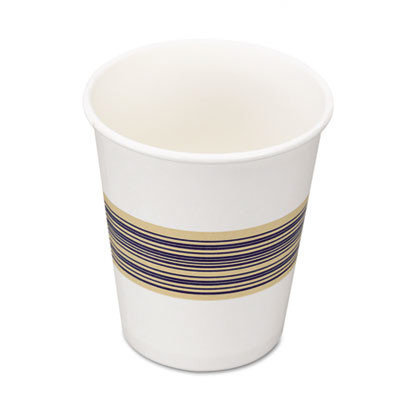 Boardwalk Boardwalk Paper Hot Cup 8 Oz - White with Blue and Tan Design (Box of