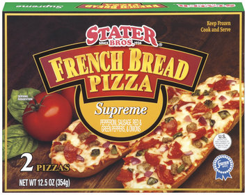 Stater Bros. Supreme 12.5 Oz French Bread Pizza 2 Ct Box