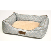 Home Dynamix Comfy Pooch Printed Bed Color: Light Blue, Size: 22