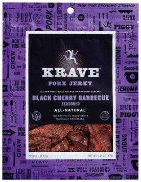 Krave® Black Cherry Barbecue Pork Jerky 3.25 oz. Bag