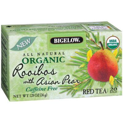 Bigelow Red Rooibos W/Asian Pear All Natural Organic Caffeine Free Tea Bags 20 Ct Box