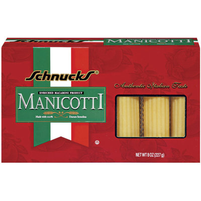 Schnucks Manicotti Pasta 8 Oz Box
