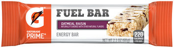 Gatorade Prime® Oatmeal Raisin Fuel Bar Energy Bar 2.1 oz Wrapper