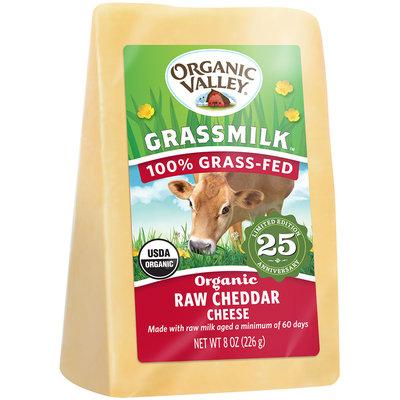Organic Valley Grassmilk Organic Raw Cheddar Cheese 8 oz. Wedge