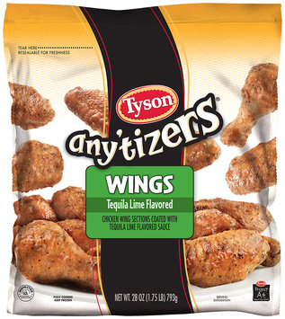 Tyson® Any'tizers® Tequila Lime Flavored Wings 28 oz. Bag