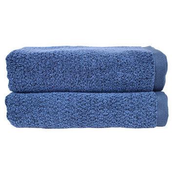 Fabbrica Home Diamond Jacquard Performance Core Bath Towel Color: Navy Blue