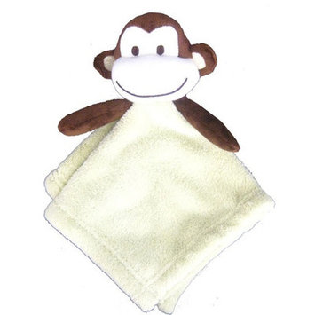 Beansprout Pem America Monkey Coral Fleece Security Blanket