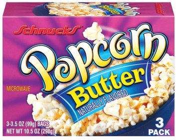 Schnucks Butter Naturally Flavored 3 Ct Popcorn 10.5 Oz Box