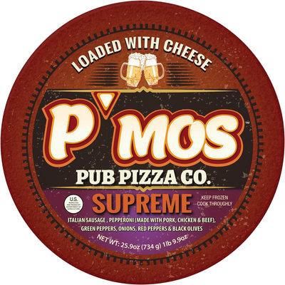 P'mos™ Pub Pizza Co. Supreme Pizza 25.9 oz.