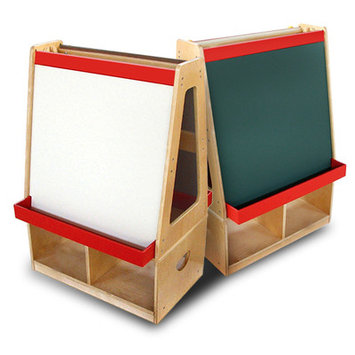 A+ Childsupply 2 Station Easel with Casters