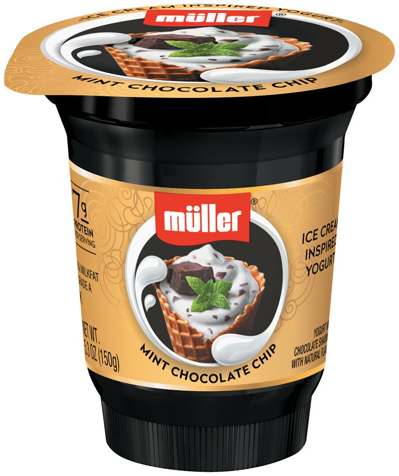 Muller® Mint Chocolate Chip Ice Cream Inspired Yogurt