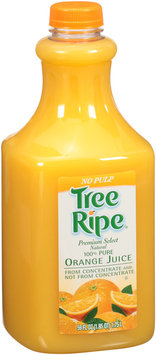 Tree Ripe® Premium Select Natural No Pulp 100% Pure Orange Juice 59 fl. oz. Plastic Bottle