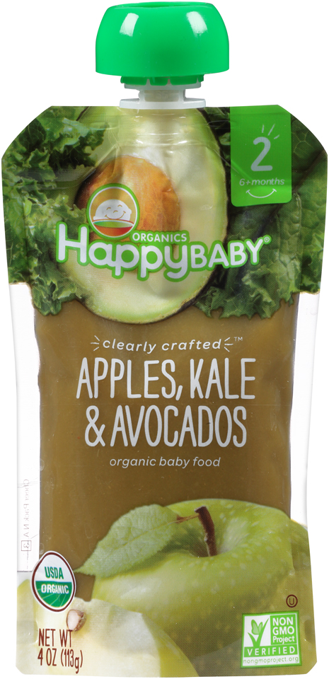 Happy Baby® Organics Apples, Kale & Avocados 4 oz. Pouch