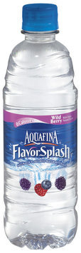 Aquafina® FlavorSplash® Wild Berry Water Beverage 16.9 fl. oz. Plastic Bottle