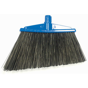 Syr Angle Broom with Bristles Color: Blue