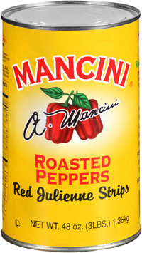 Mancini® Red Julienne Strips Roasted Peppers 48 oz. Can