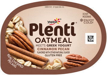 Yoplait® Plenti™ Cinnamon Pecan Oatmeal Meets Greek Yogurt