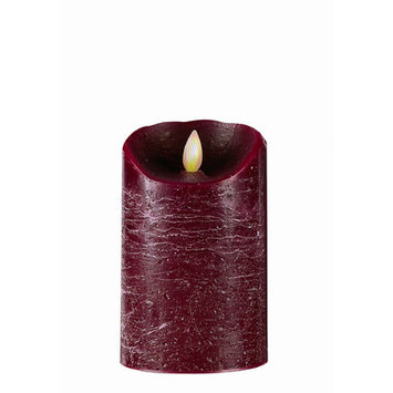 Boston Warehouse Trading Corp Mystique Flameless Candle - Size: 5 H x 3.2 W x 3.2 D, Color: Burgundy