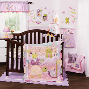 Lambs & Ivy Bedtime Lambs & Ivy Puddles 4 Piece Crib Bedding Set