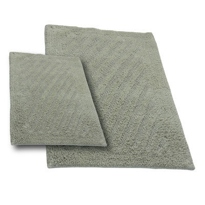 Textile Decor Castle 2 Piece 100% Cotton Shooting Star Reversible Bath Rug Set, 24 H X 17 W and 30 H X 20 W