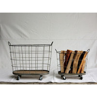 Creative Co-op Casual Country 2 Piece Laundry Basket Set
