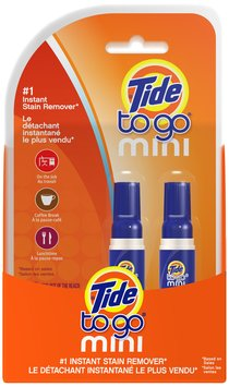 Tide To Go Mini Instant Stain Remover Pen 2 ct Pack